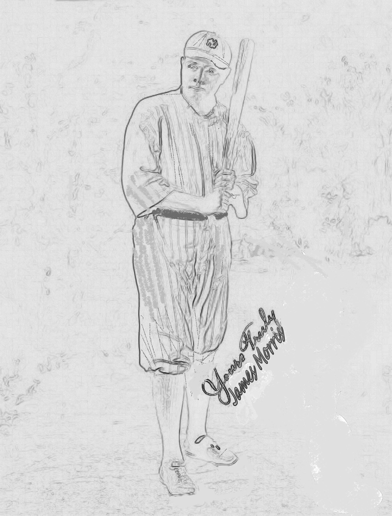 Lawn coloring pages for Babe ruth coloring pages